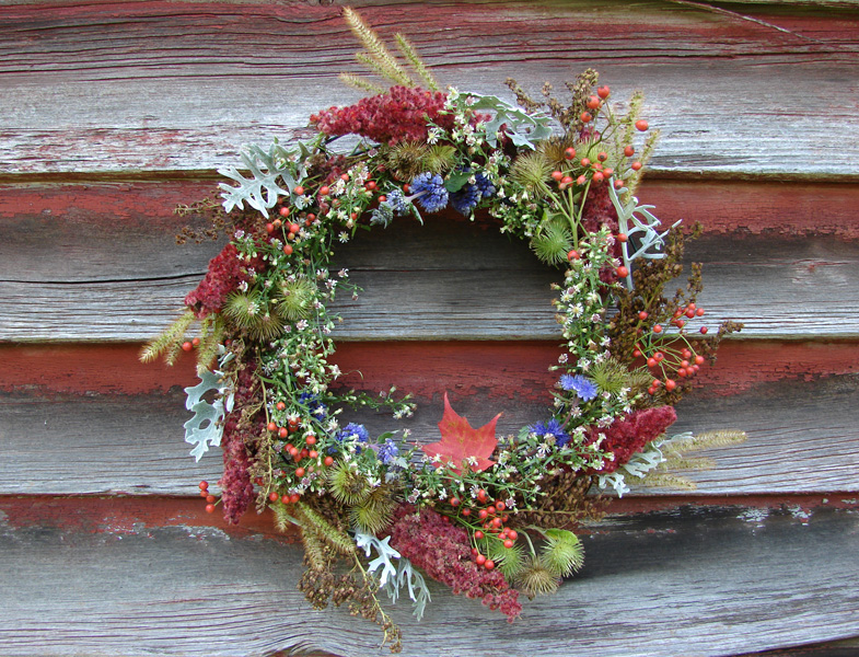 Wreath on barn