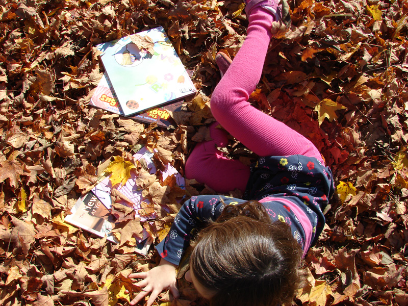 Books in leaves