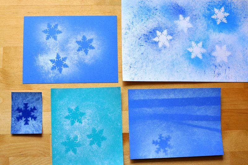 Many snowflakes